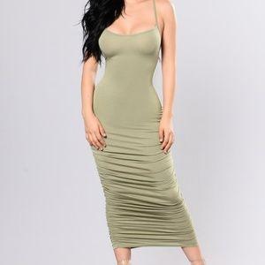 Fashion Nova Past & Present Dress - Sage